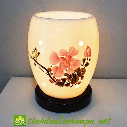 Đèn gốm hoa Mộc Lan TN32