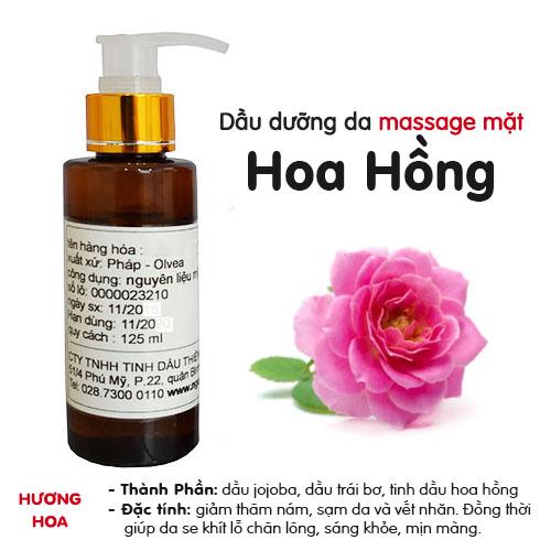 Dầu massage mặt Hoa Hồng