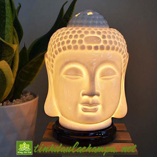 Đèn gốm Đầu Phật TN43