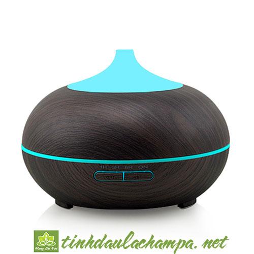 Máy khuếch tán tinh dầu bí ngô 300ml màu gỗ tối MKT22-DW