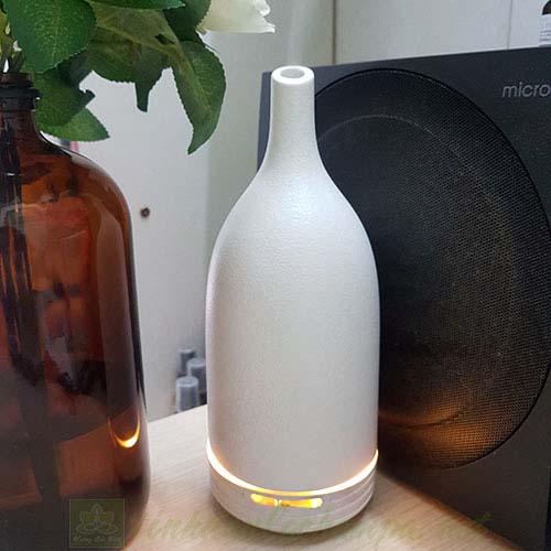 Máy khuếch tán tinh dầu gốm Ceramic Ellestfun màu trắng