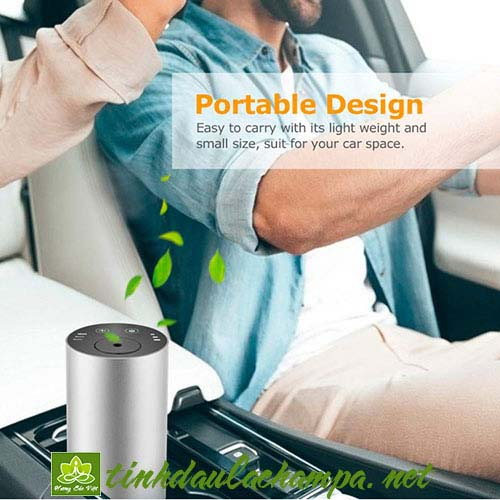 Máy xông tinh dầu nguyên chất cho xe hơi có pin sạc tích điện MTD04