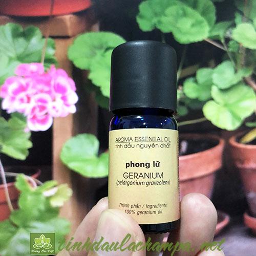 Tinh dầu Phong Lữ Geranium nguyên chất thương hiệu lachampa 10ml