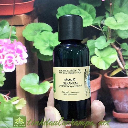 Tinh dầu Phong Lữ Geranium nguyên chất thương hiệu lachampa 50ml