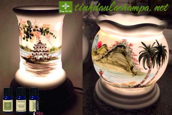 Đèn xông tinh dầu gốm Bát Tràng - shop Hương Sắc Việt