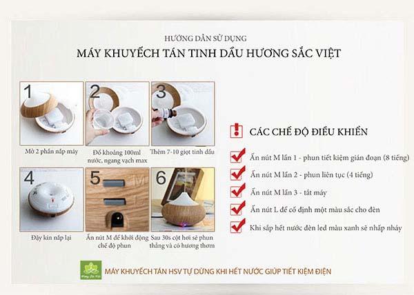 Hướng dẫn sử dụng máy khuyếch tán tinh dầu - shop Hương Sắc Việt