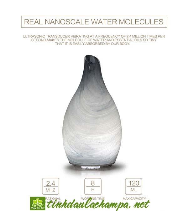 Máy khuếch tán tinh dầu thủy tinh nghệ thuật đẹp rẻ sang trọng